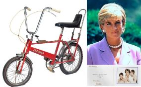 DIANA PRINCESS OF WALES - HER CHILDHOOD TRACKER BICYCLE