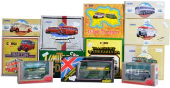 COLLECTION OF BOXED CORGI & EFE DIECAST MODEL BUSES