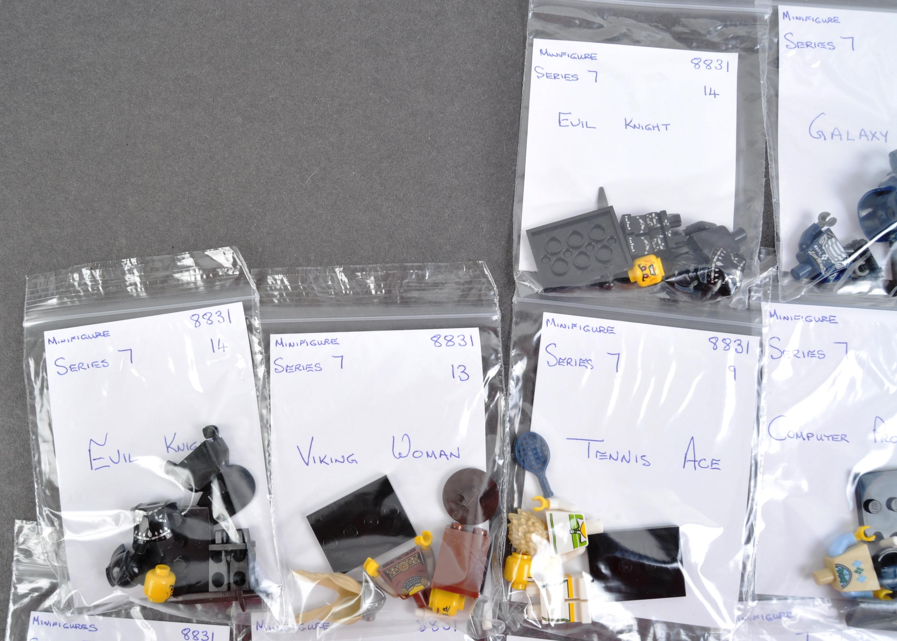 LEGO MINIFIGURES - 8831 - SERIES 7 COMPLETE MINIFIGURE SET - Image 6 of 6