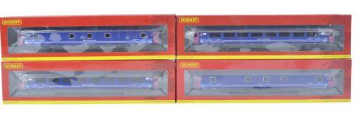 RAKE OF X5 HORNBY 00 GAUGE MODEL RAILWAY LOCOMOTIVE CARRIAGES