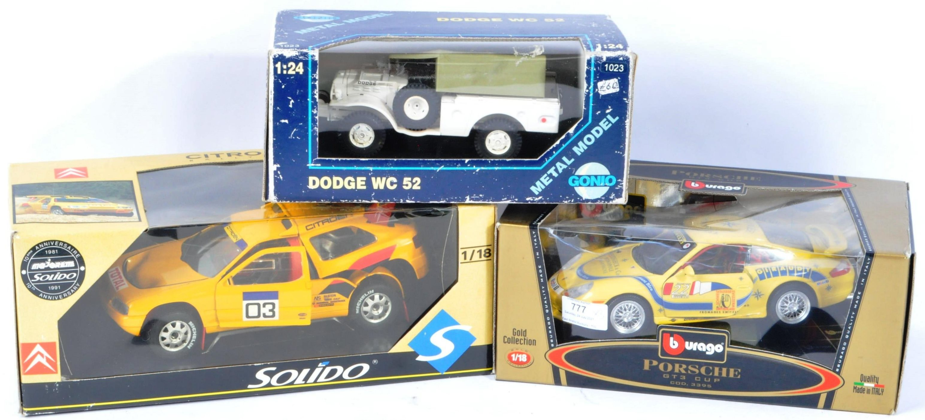 DIECAST - LARGE SCALE BOXED DIECAST MODELS 1/18 AND 1/24