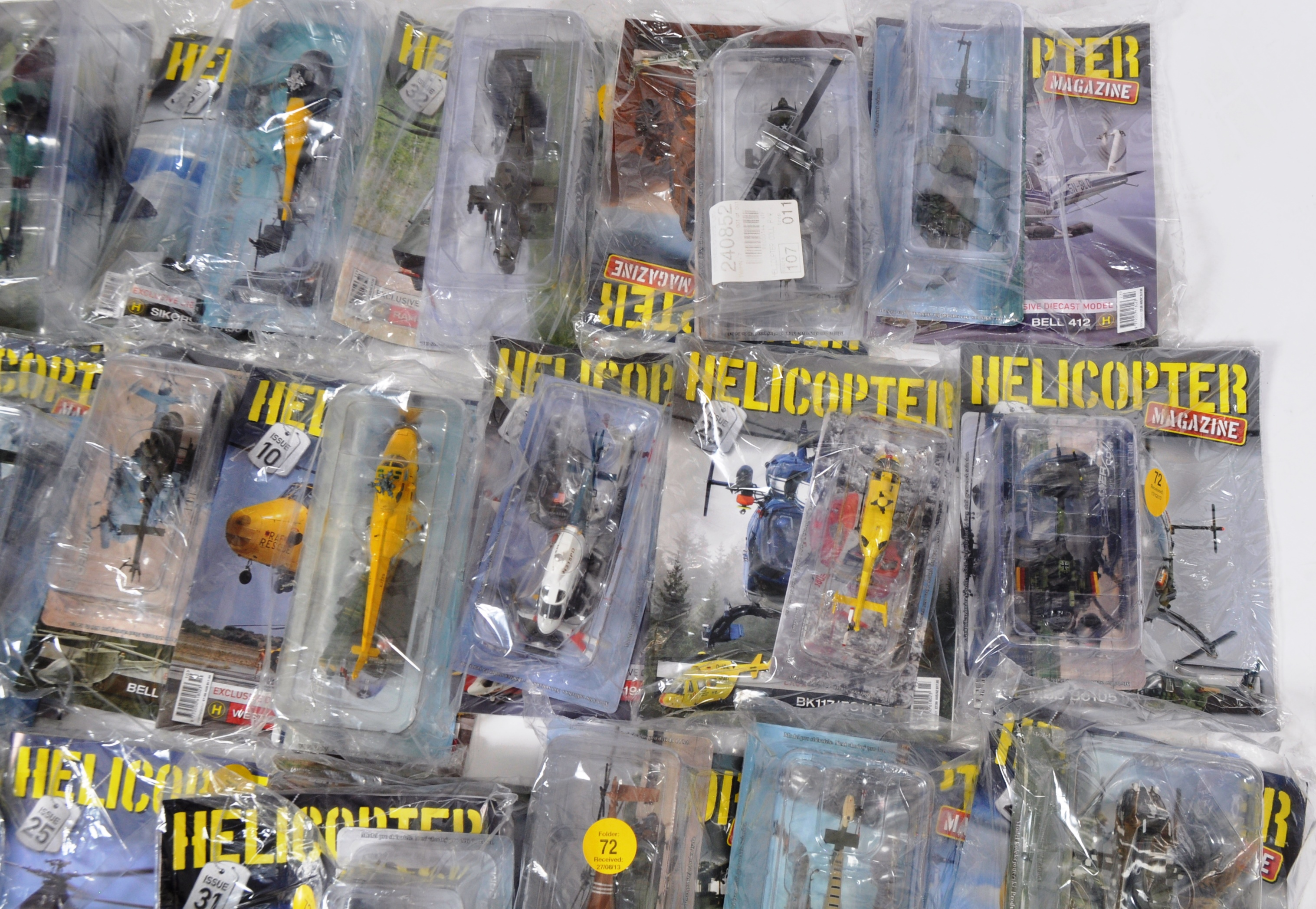 COLLECTION OF ASSORTED HELICOPTER DIECAST AND MAGAZINES - Image 5 of 8