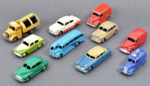 COLLECTION OF X10 ORIGINAL VINTAGE DINKY TOYS DIECAST MODELS
