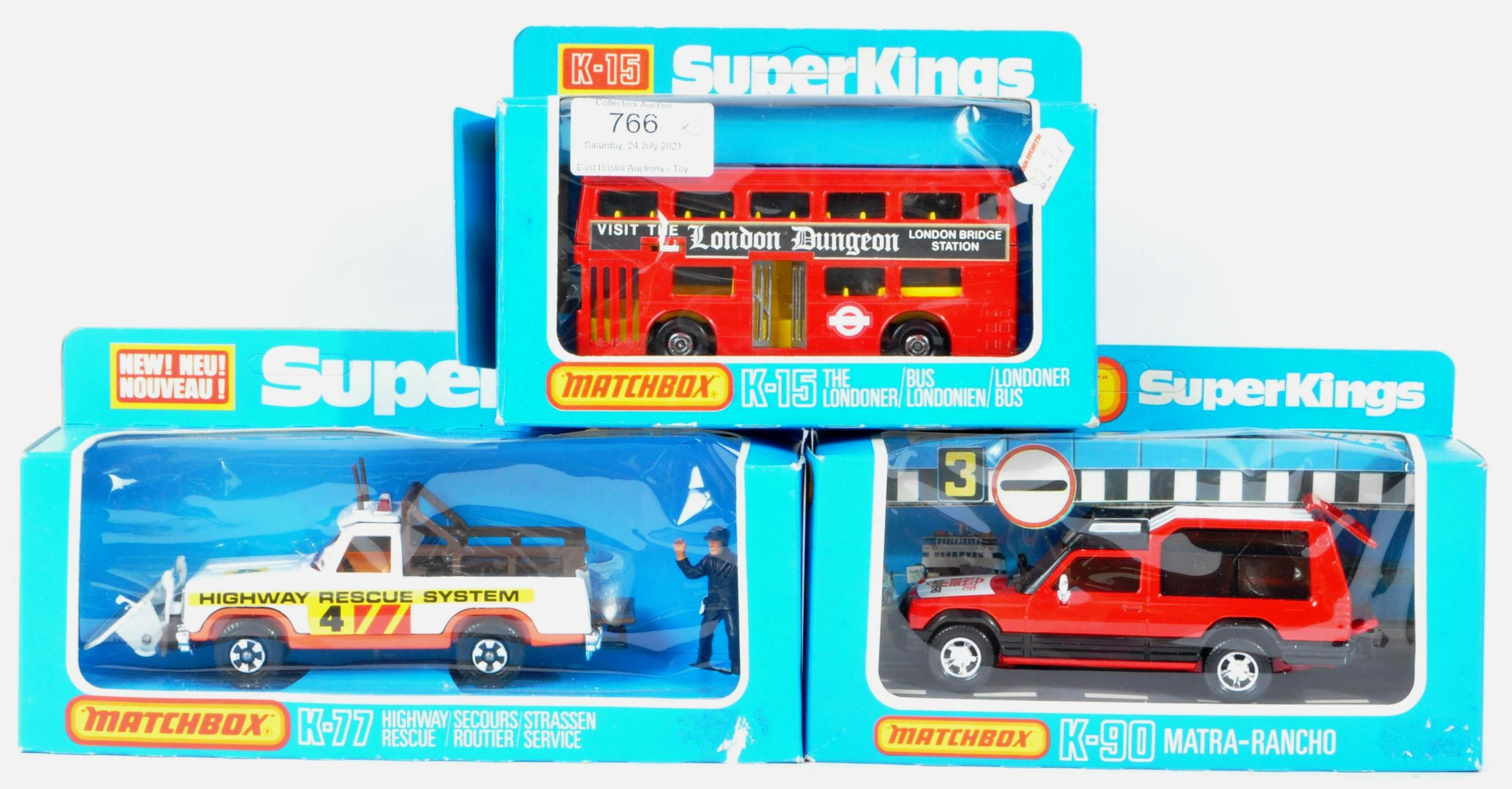 MATCHBOX SUPERKINGS - COLLECTION OF X3 MINT BOXED DIECAST MODELS