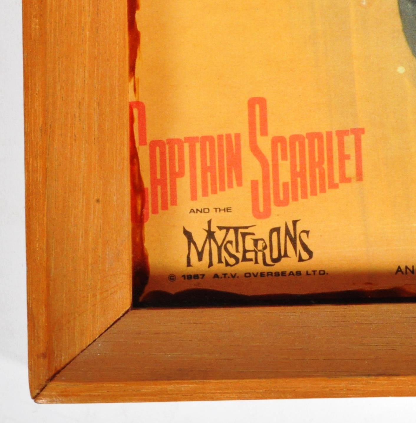 RARE CAPTAIN SCARLET ANGLO CONFECTIONERY SHOP DISPLAY POSTER BOARD - Image 8 of 9