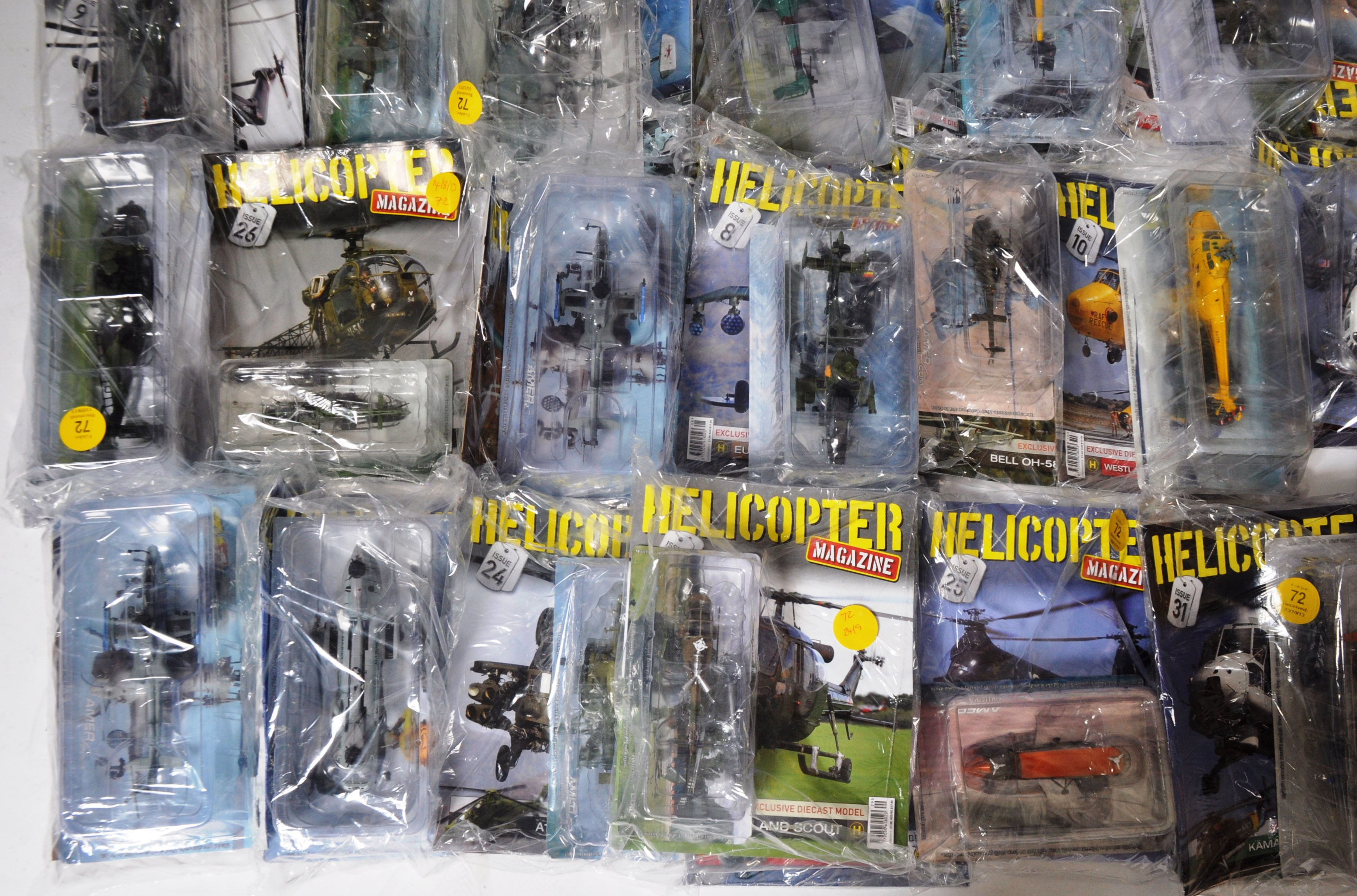 COLLECTION OF ASSORTED HELICOPTER DIECAST AND MAGAZINES - Image 2 of 8