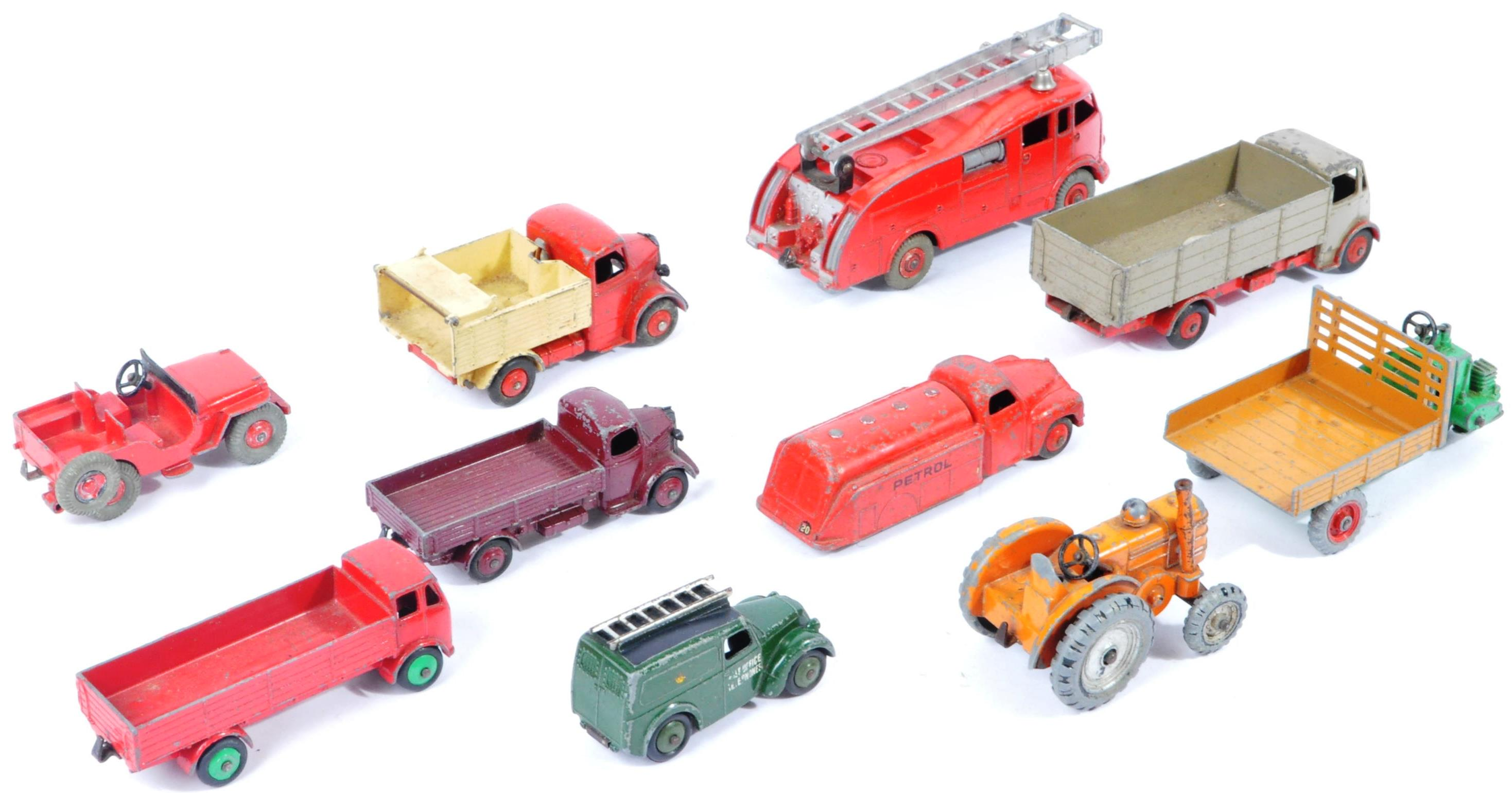 COLLECTION OF X10 VINTAGE DINKY TOYS DIECAST MODEL TRUCKS - Image 6 of 14