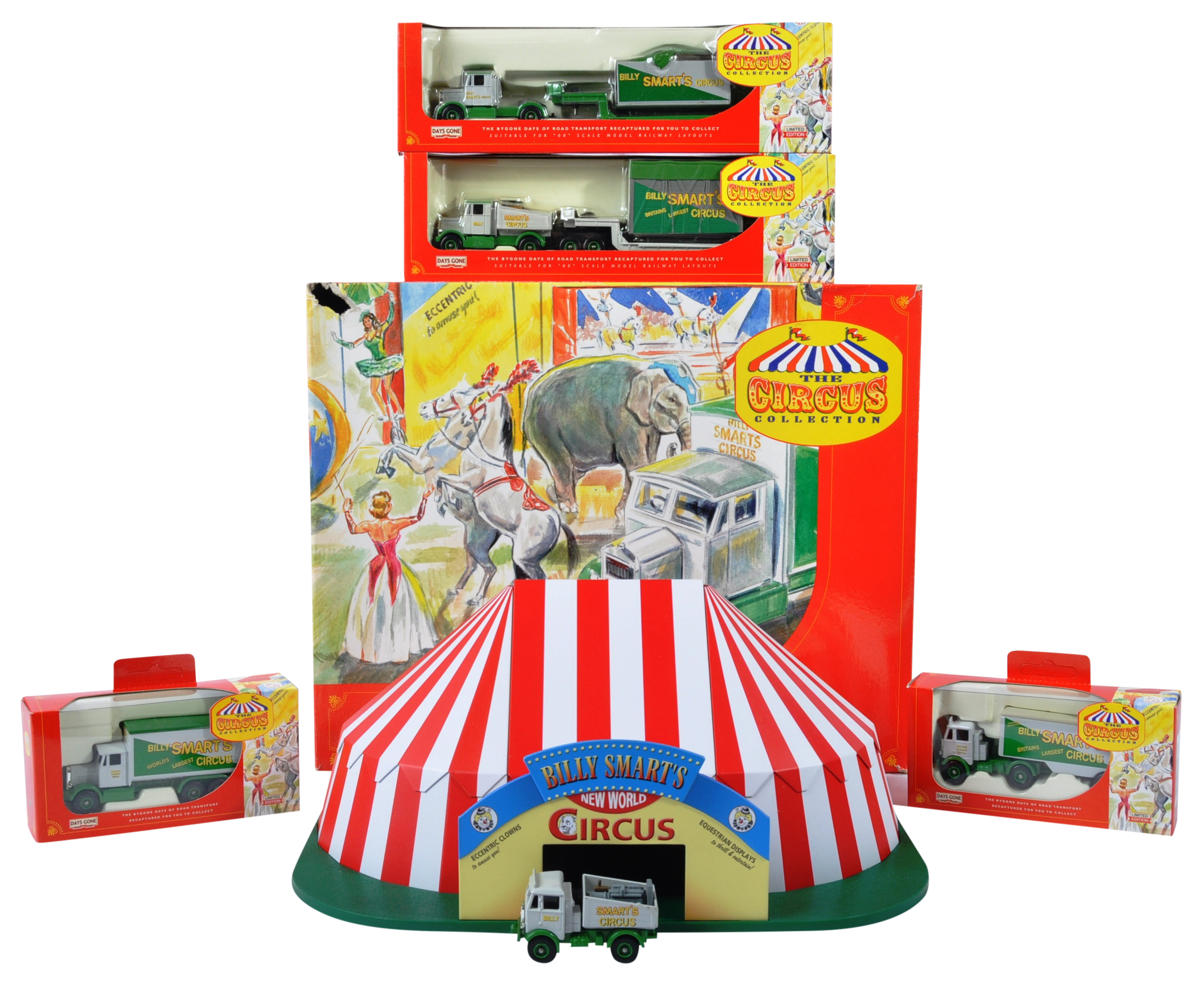 COLLECTION OF LLEDO DAYS GONE BILLY SMARTS CIRCUS DIECAST