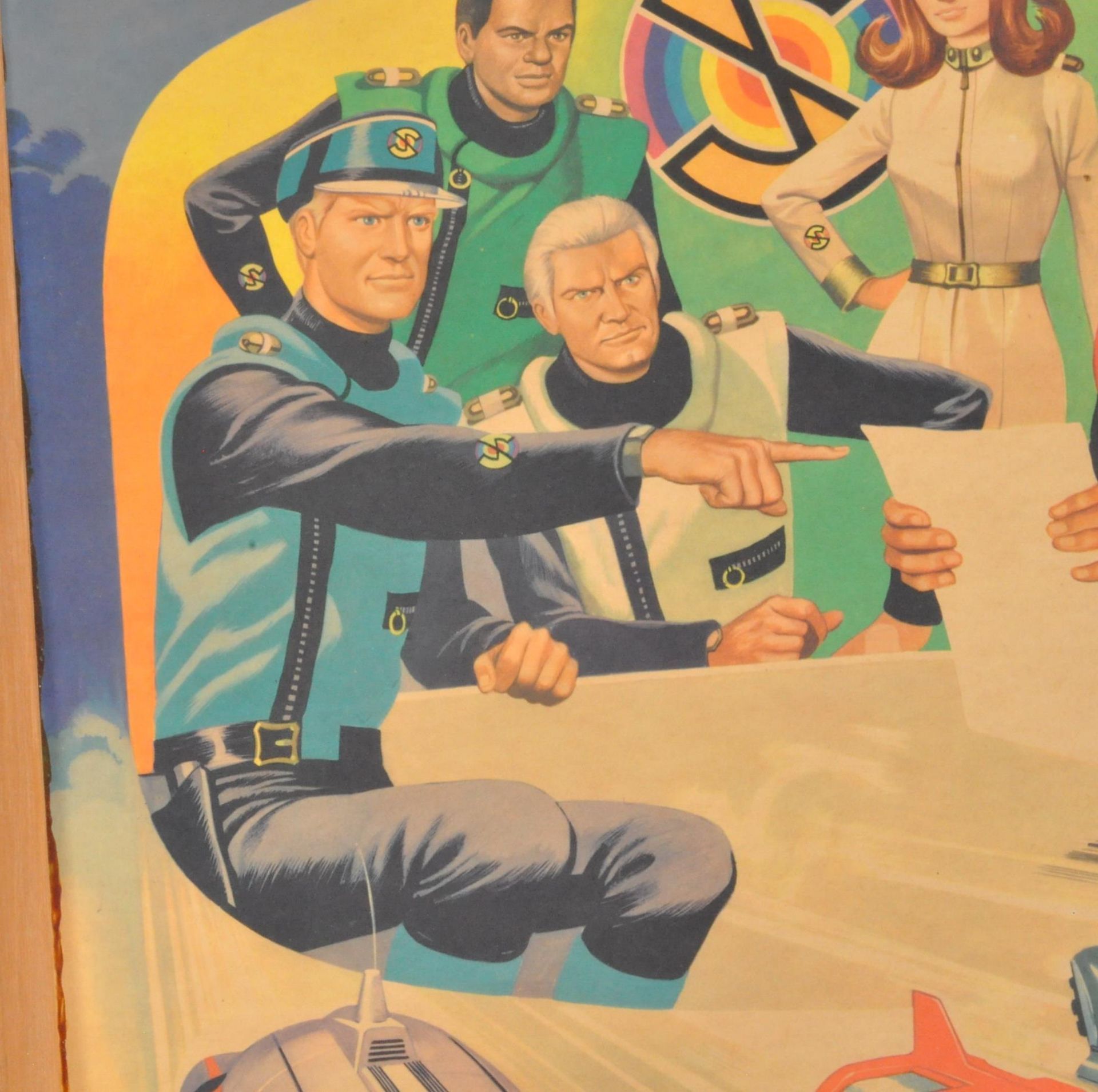 RARE CAPTAIN SCARLET ANGLO CONFECTIONERY SHOP DISPLAY POSTER BOARD - Image 4 of 9