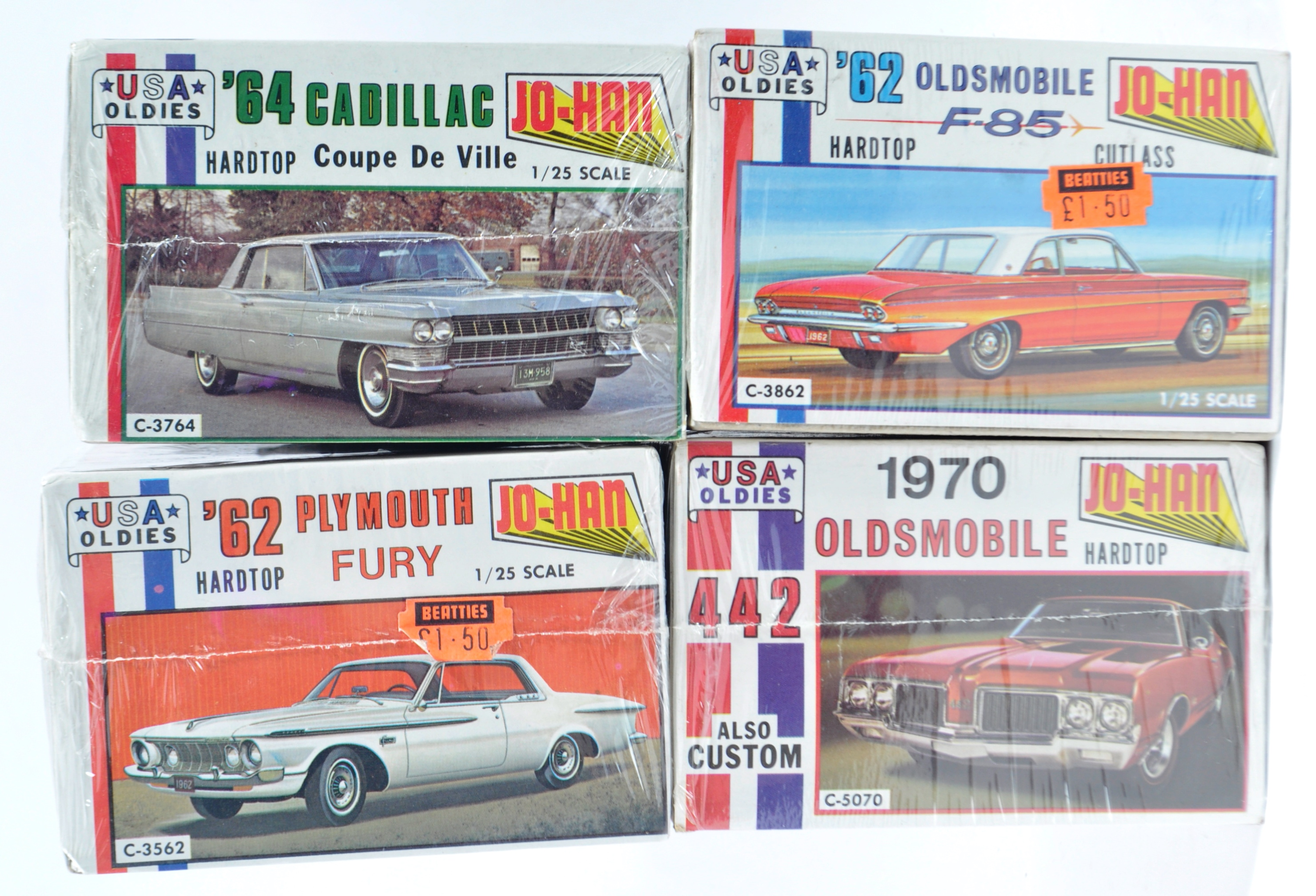 COLLECTION OF X4 VINTAGE JO-HAN FACTORY SEALED MODEL KITS - Image 7 of 7