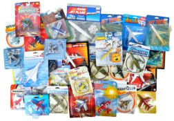 LARGE COLLECTION OF CARDED AVIATION RELATED DIECAST MODELS