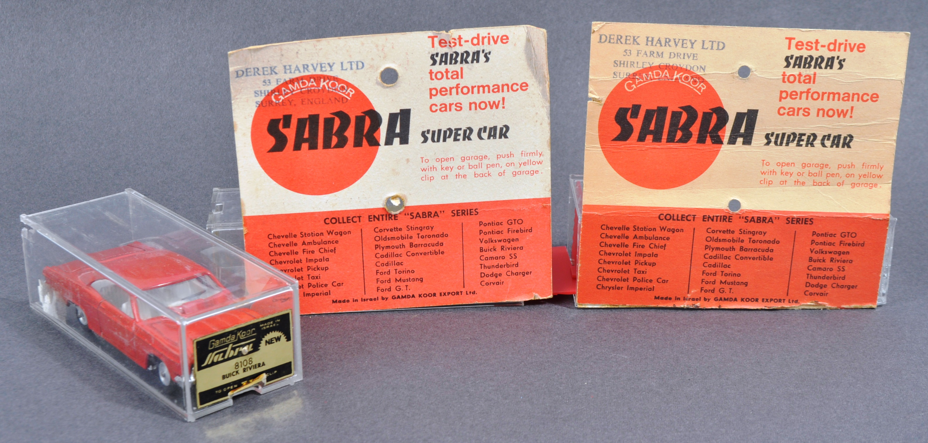 COLLECTION OF X4 VINTAGE ISRAELI MADE ' SABRA ' DIECAST MODEL CARS - Image 6 of 6