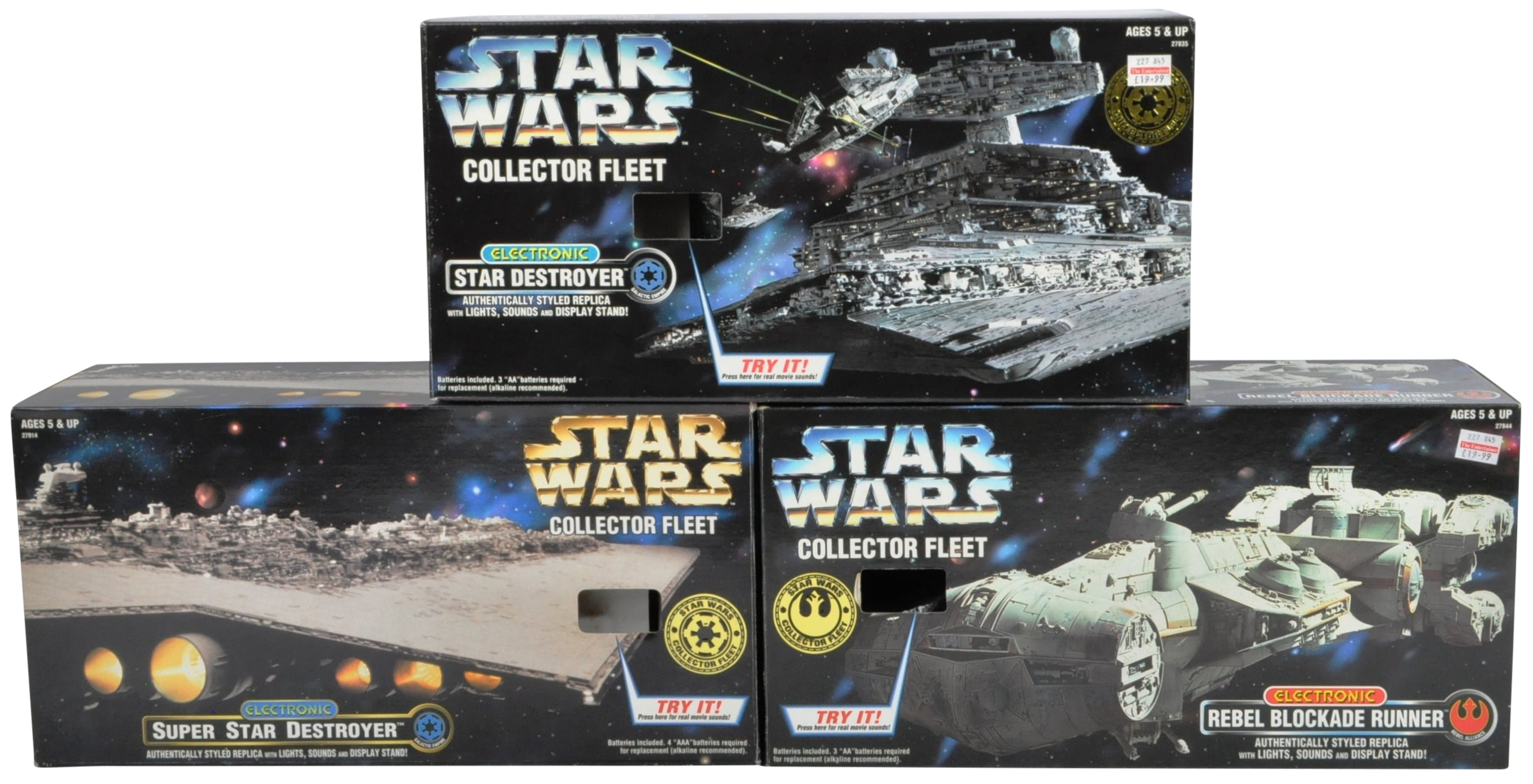 STAR WARS - COLLECTION OF KENNER ' COLLECTOR FLEET ' PLAYSETS