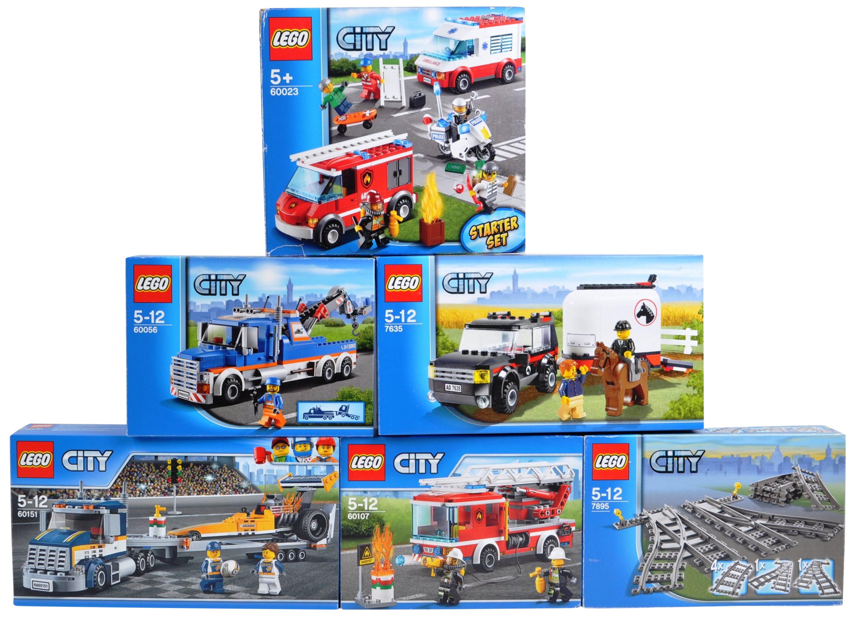 LEGO SETS - LEGO CITY - 7635 / 7895 / 60023 / 60056 / 60107 / 60151