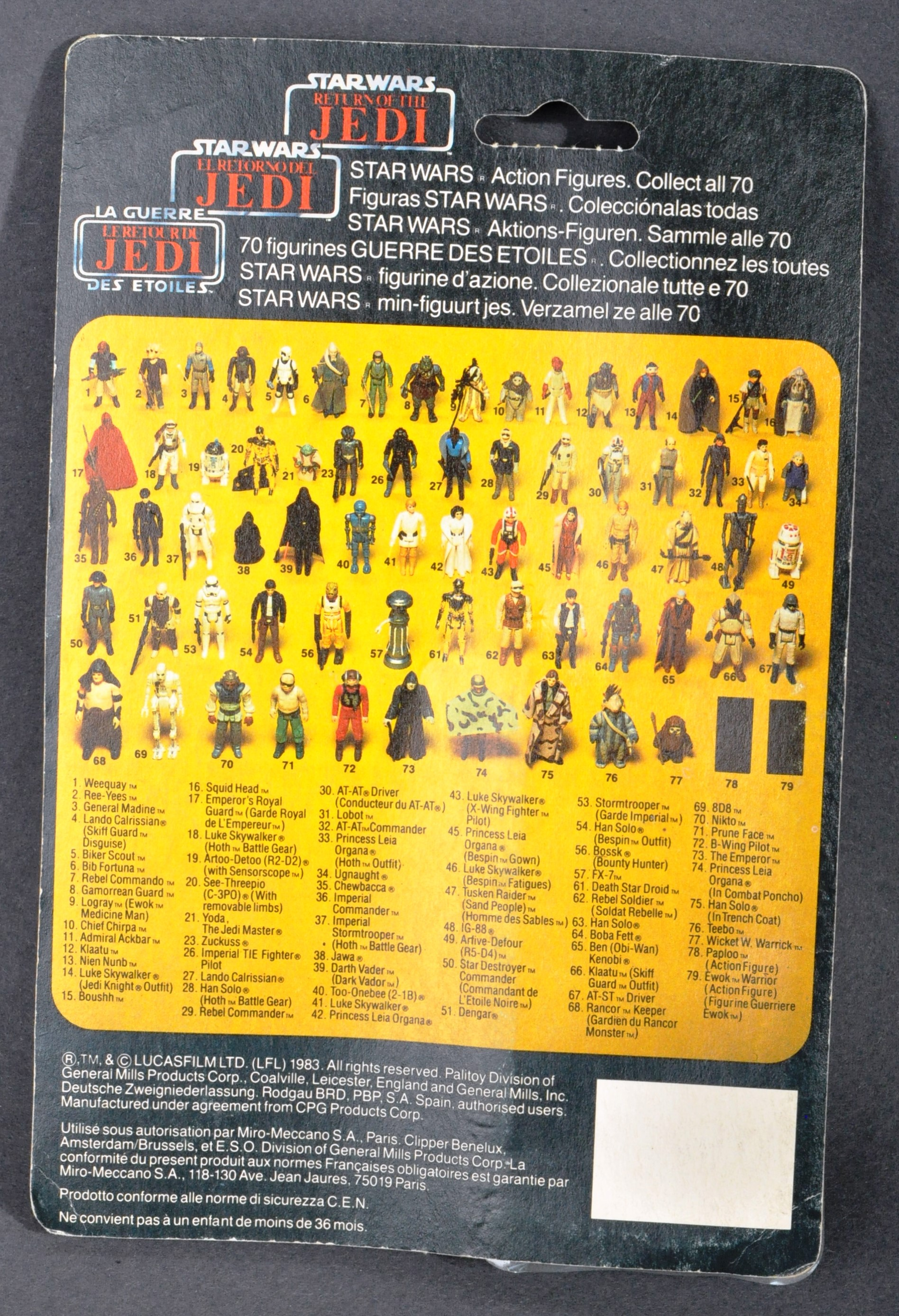 STAR WARS - ORIGINAL PALITOY CARDED MOC ACTION FIGURE - Image 2 of 6