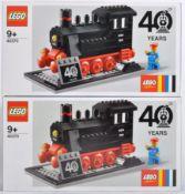 LEGO SETS - LEGO TRAINS - 40370 - 40TH ANNIVERSARY SETS