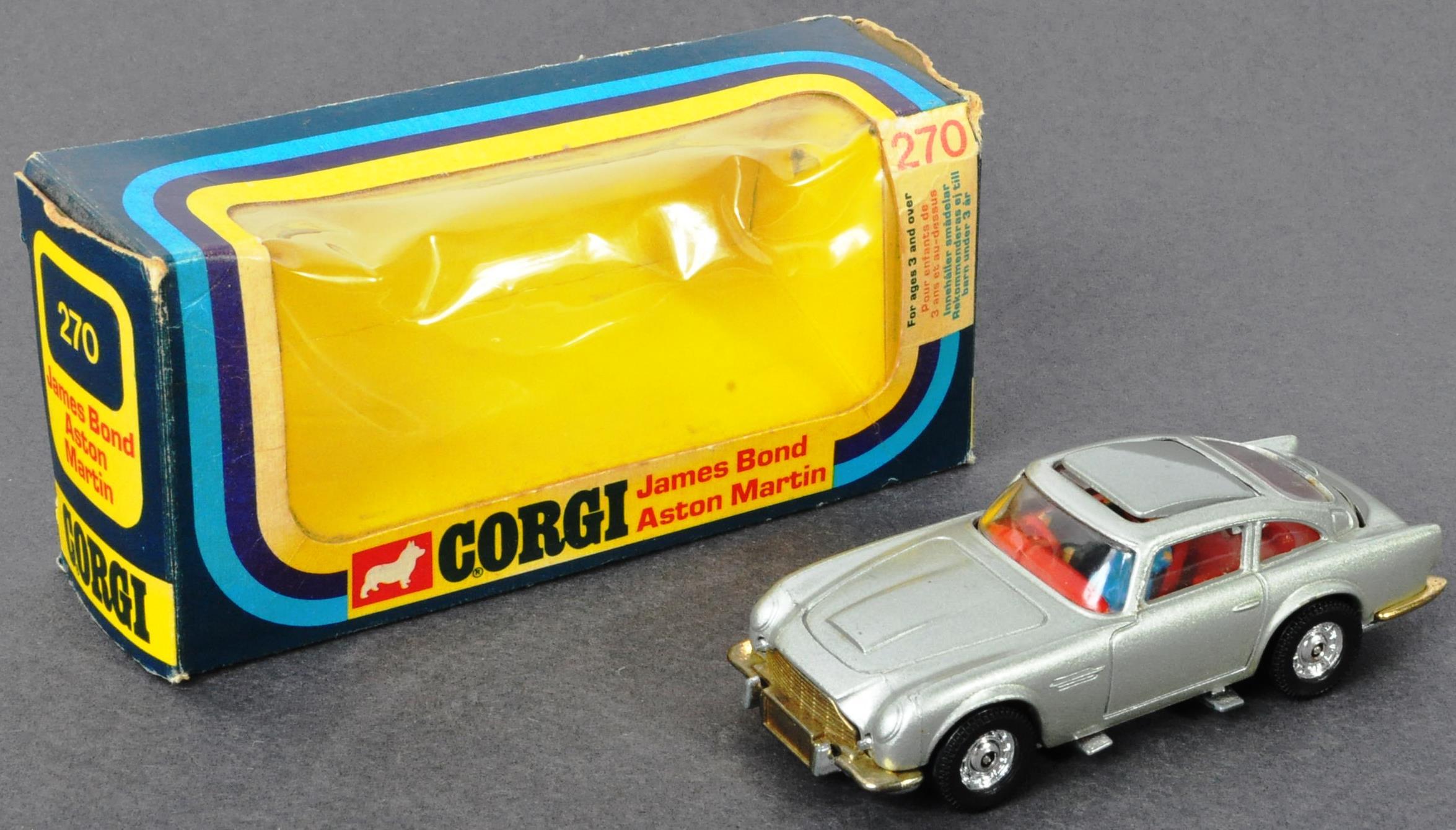 VINTAGE CORGI JAMES BOND ASTON MARTIN DB5 NO. 270