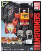 TRANSFORMERS - TITANS RETURN - AUTOBOT BLASTER BOXED ACTION FIGURE