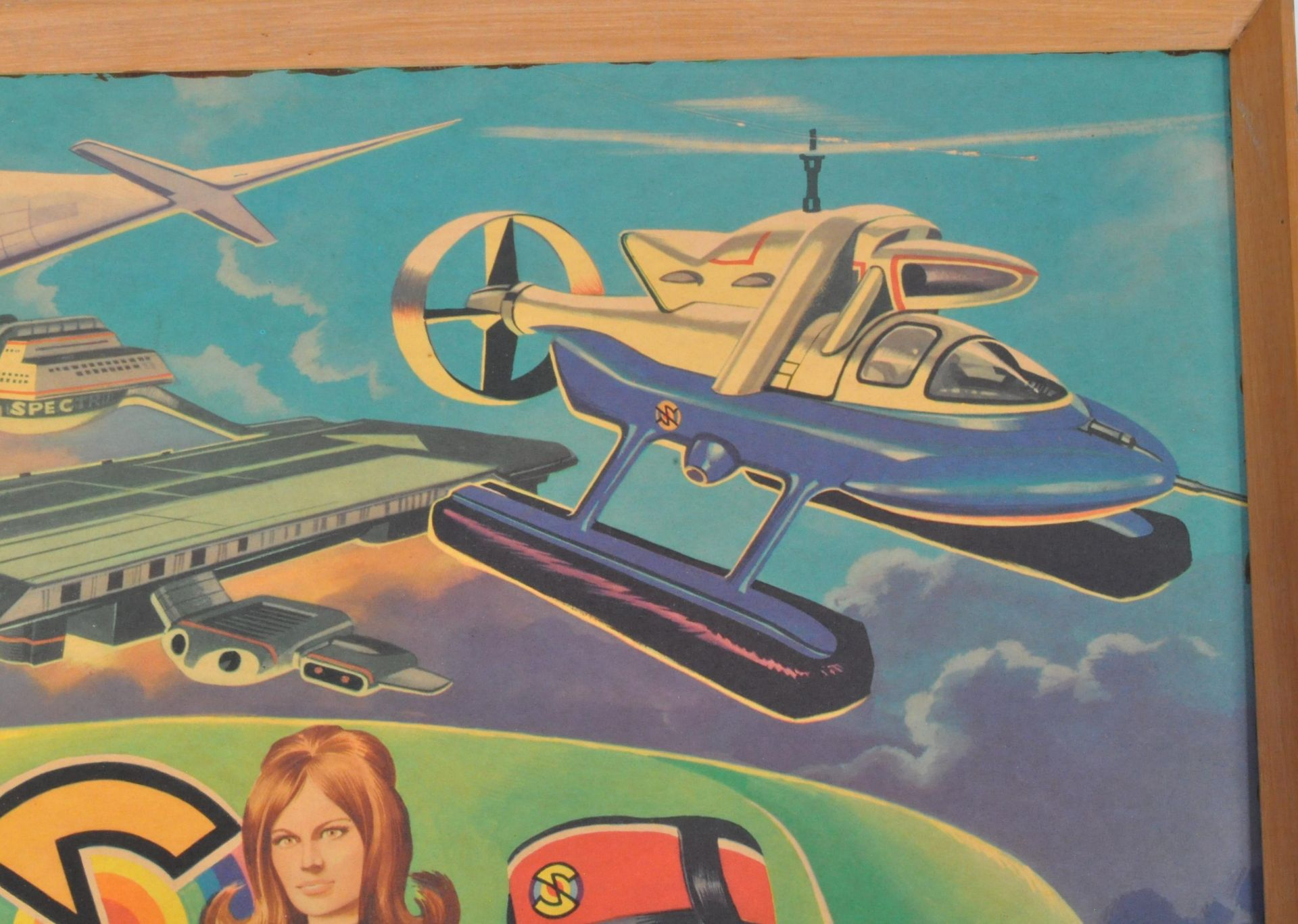 RARE CAPTAIN SCARLET ANGLO CONFECTIONERY SHOP DISPLAY POSTER BOARD - Image 3 of 9