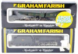 TWO ORIGINAL GRAHAM FARISH N GAUGE MODEL RAILWAY LOCOMOTIVES