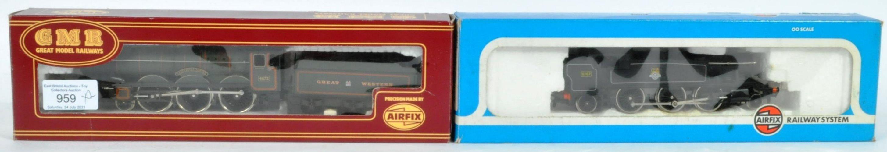 TWO ORIGINAL AIRFIX 00 GAUGE MODEL RAILWAY TRAINSET LOCOMOTIVES