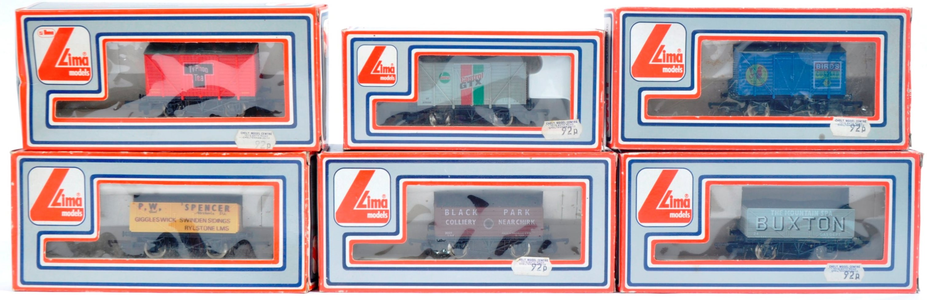 COLLECTION OF X6 LIMA 00 GAUGE MODEL RAILWAY ROLLING STOCK WAGONS