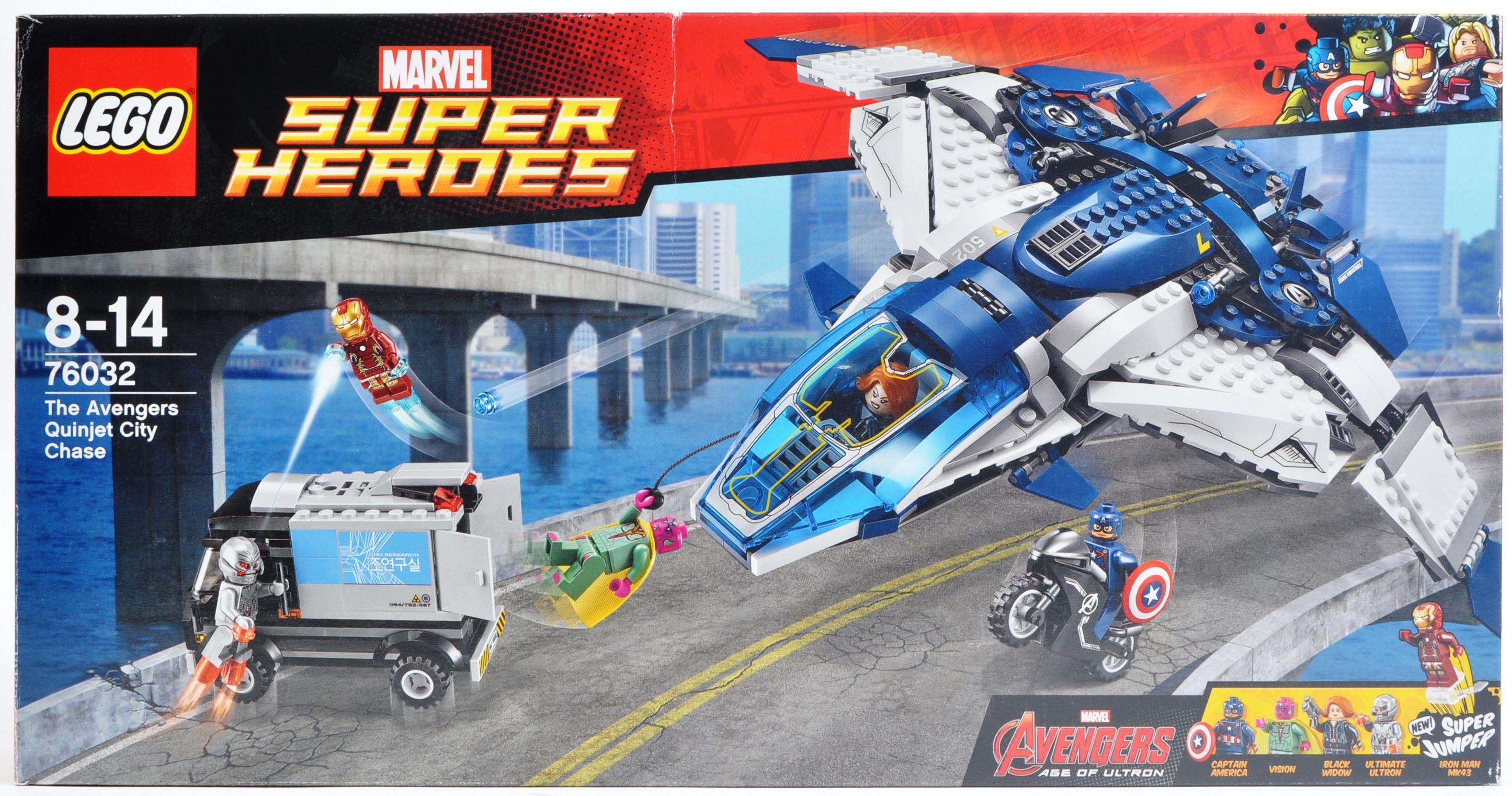 LEGO SET - MARVEL SUPERHEROES - 76032 - AVENGERS QUINJET CITY CHASE
