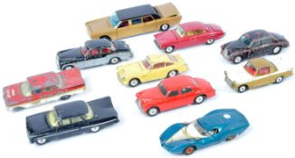 COLLECTION OF X10 VINTAGE CORGI TOYS DIECAST MODEL CARS