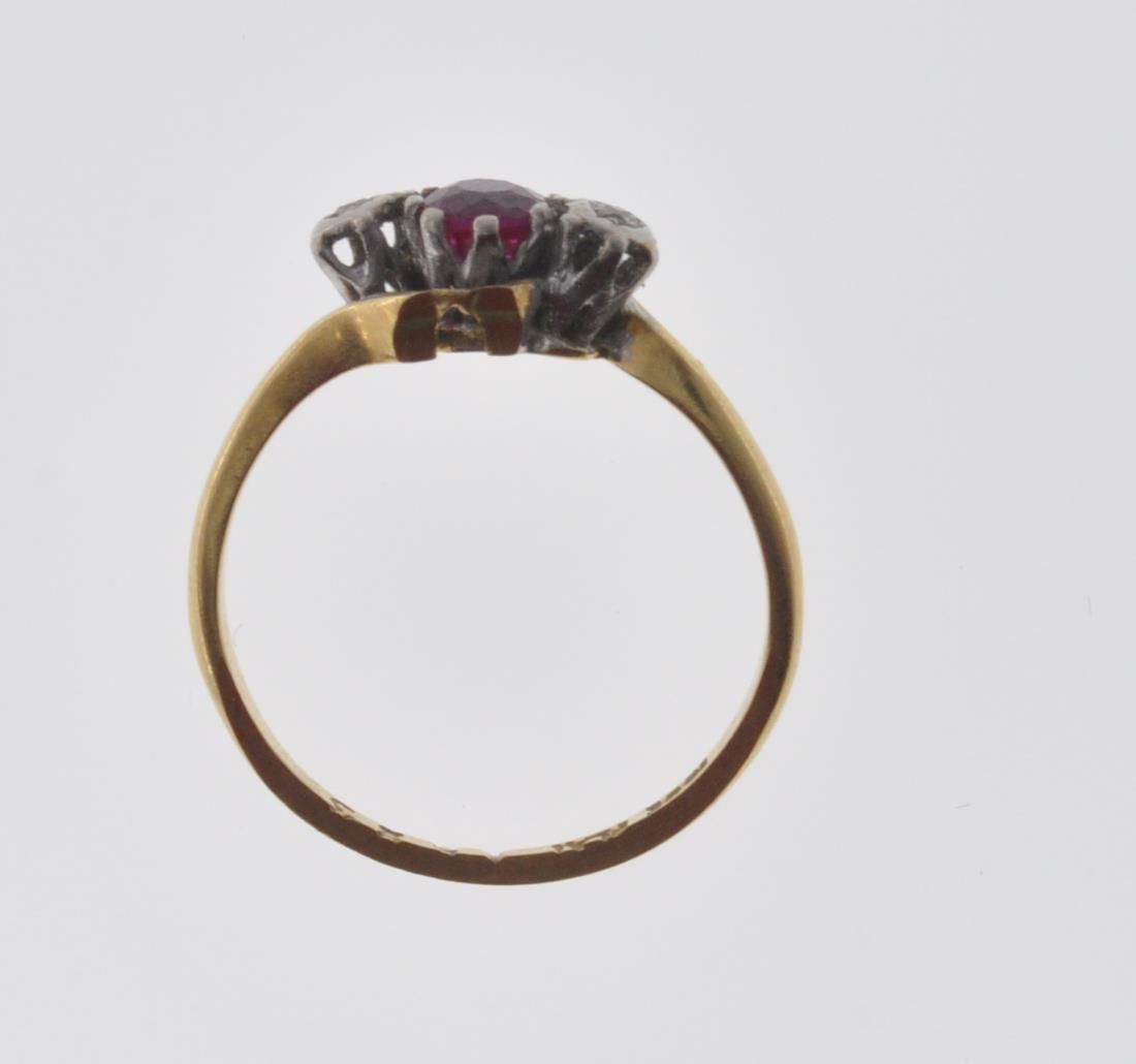 18CT GOLD RUBY AND DIAMOND RING - Image 7 of 7