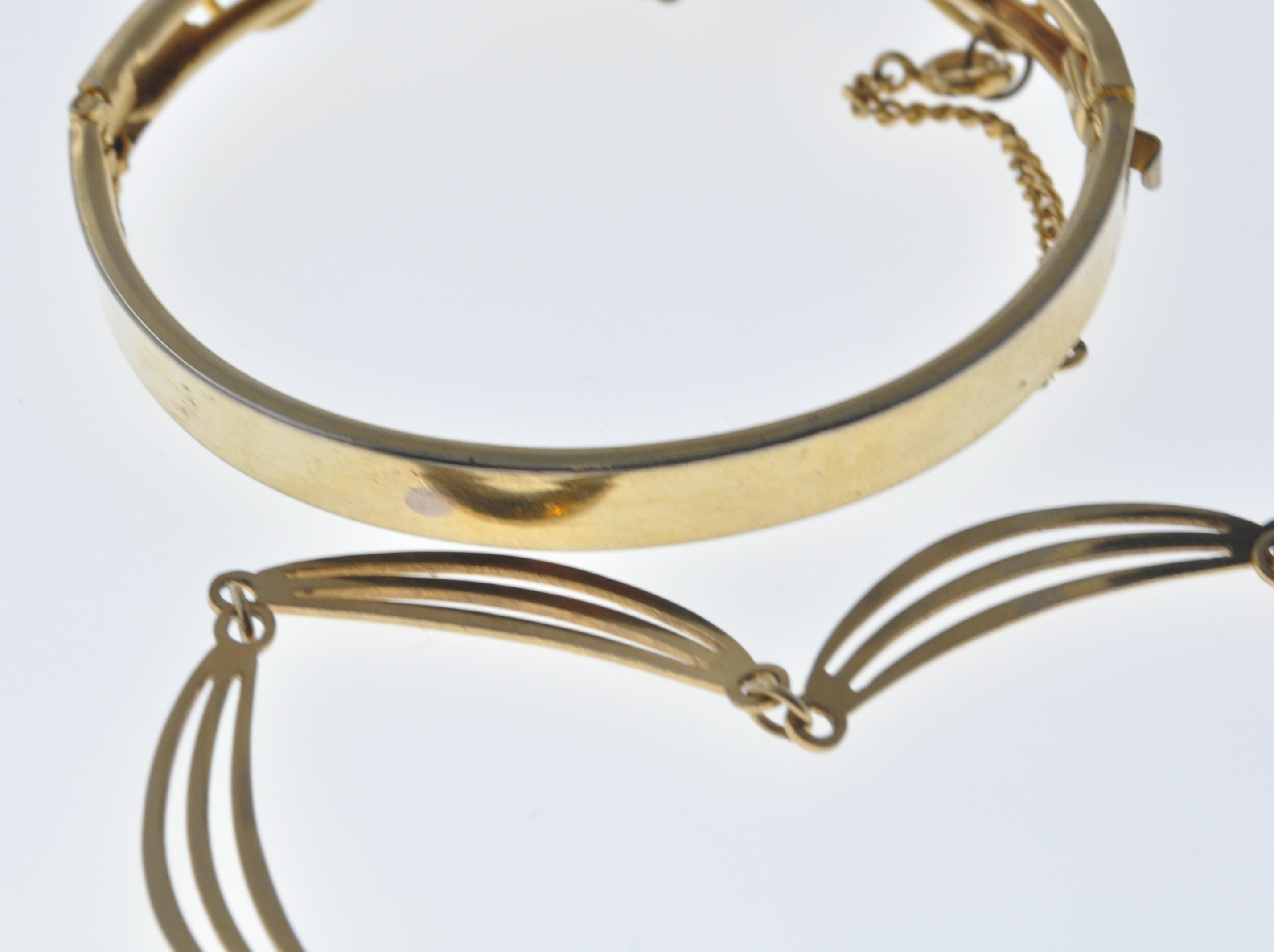VINTAGE BANGLE AND NECKLACE - Image 4 of 9
