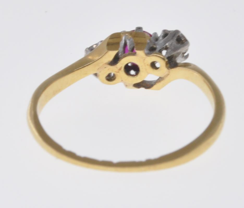 18CT GOLD RUBY AND DIAMOND RING - Image 6 of 7