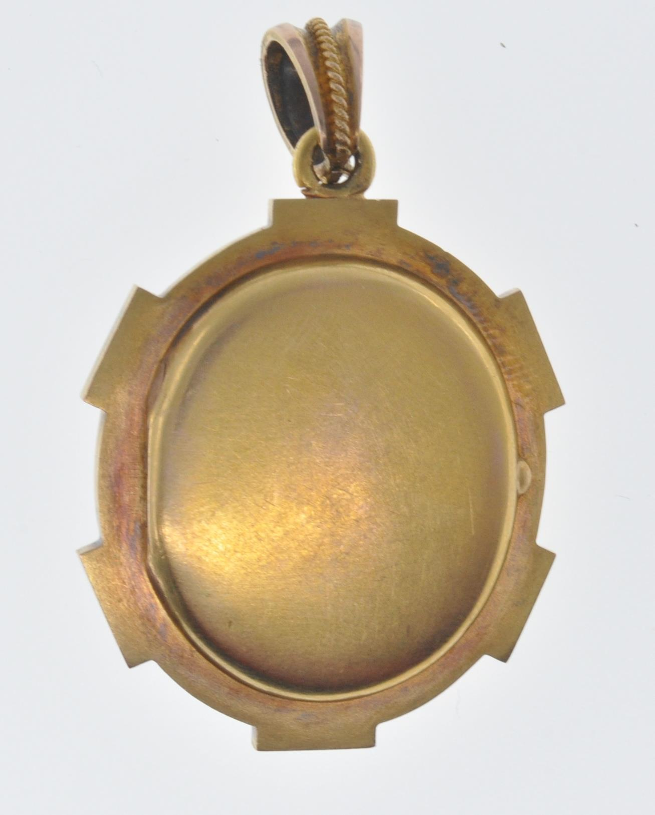 ANTIQUE SEED PEARL AND CAMEO LOCKET PENDANT - Image 6 of 8