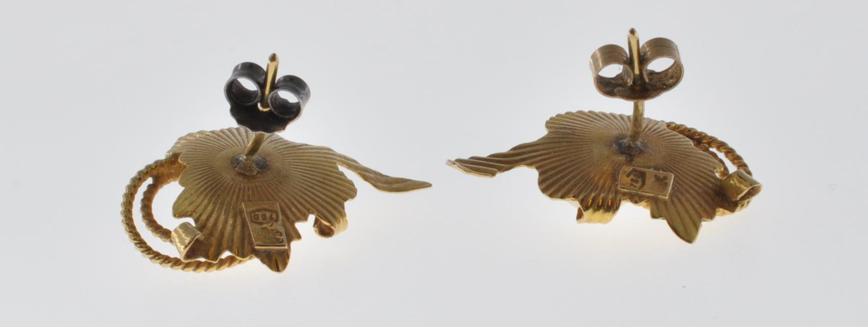 18CT GOLD AND PEARL EARRINGS - Image 6 of 6