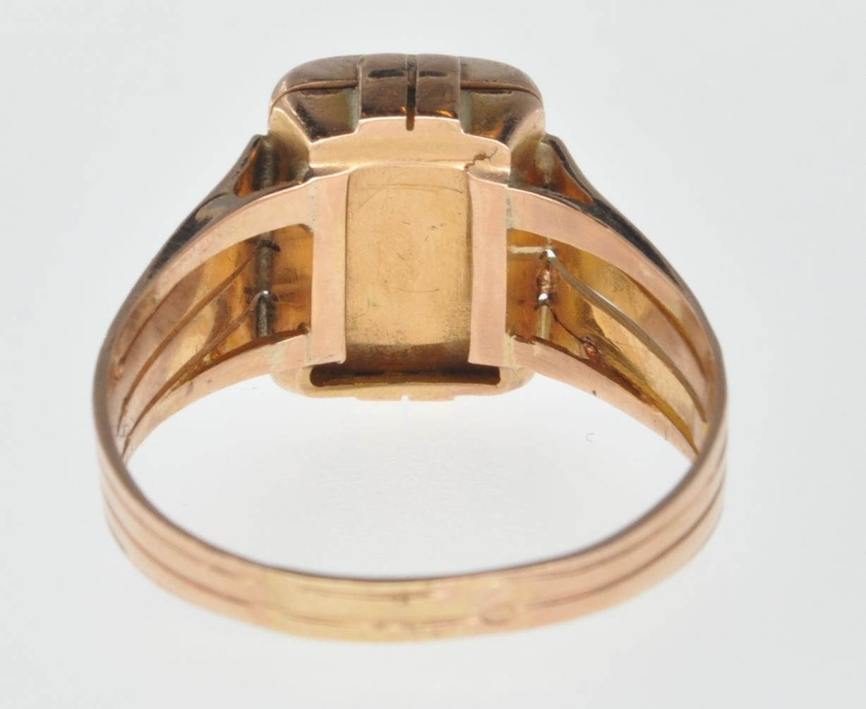 ANTIQUE FRENCH 18CT GOLD SIGNET RING - Image 4 of 6