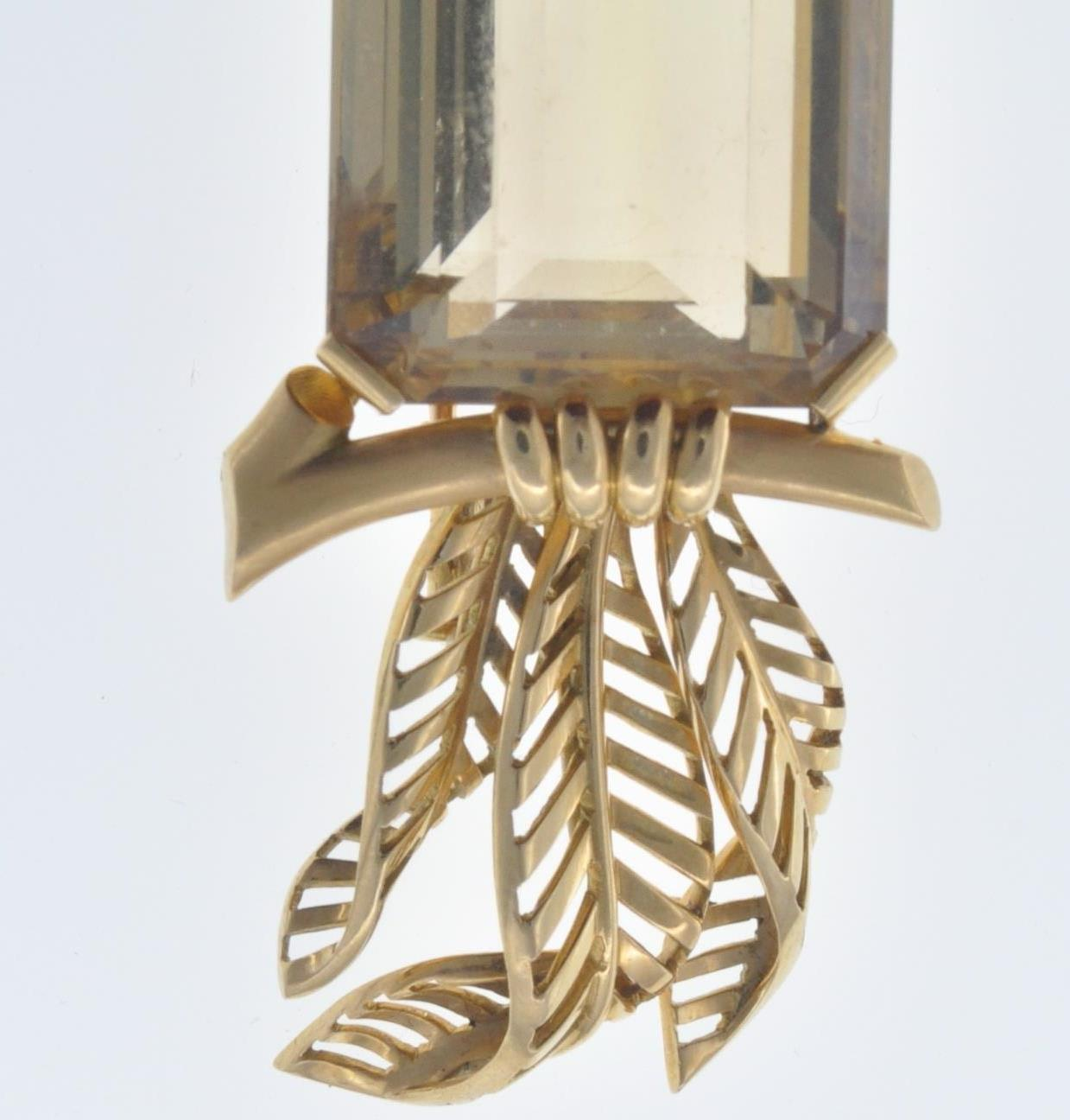 FRENCH 18CT GOLD AND CITRINE BIRD CLIP - Image 2 of 8