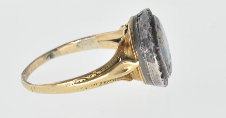 ANTIQUE MINIATURE PORTRAIT PANEL RING - Image 6 of 7