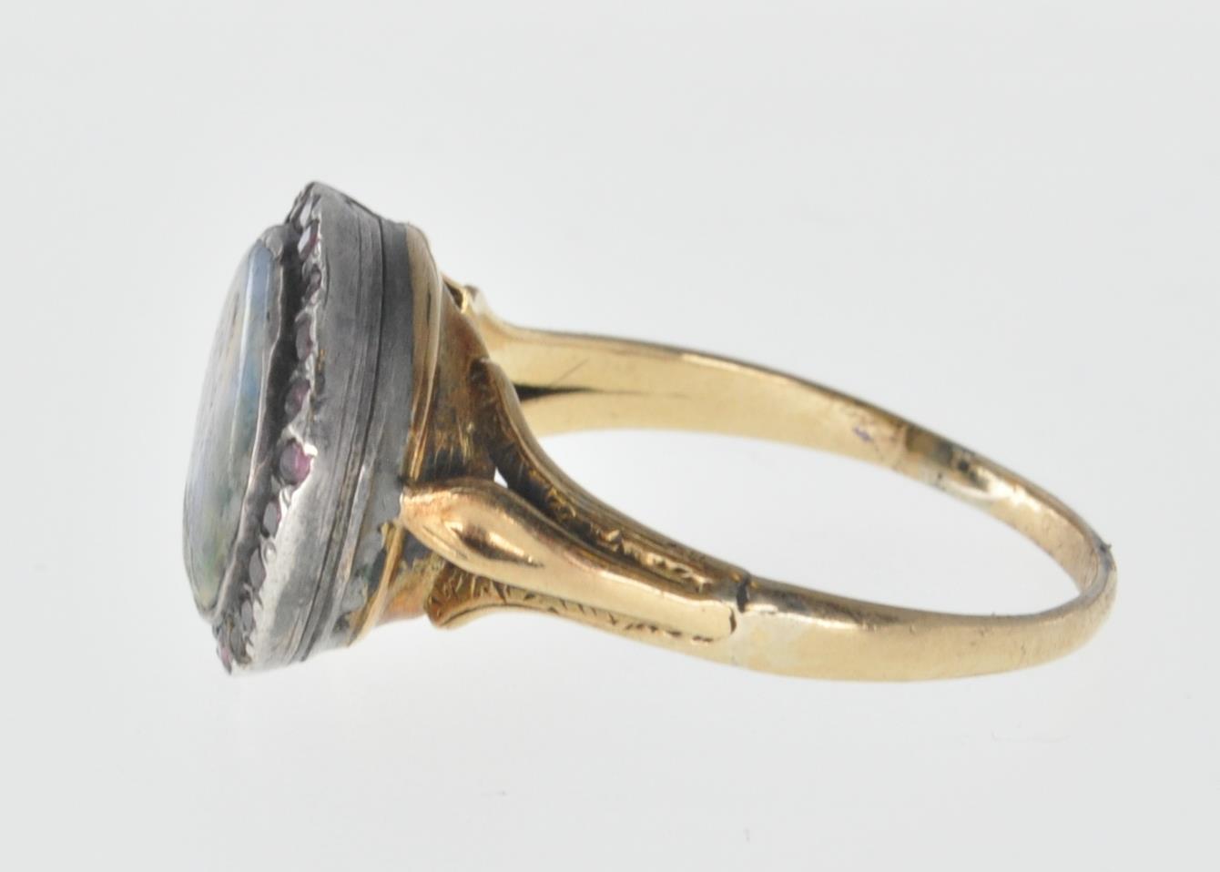 ANTIQUE MINIATURE PORTRAIT PANEL RING - Image 3 of 7