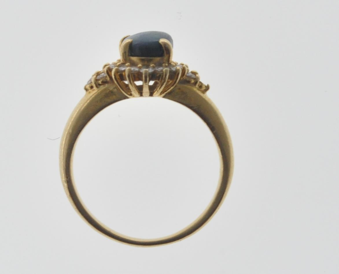 18CT GOLD BLACK OPAL AND DIAMOND RING - Image 7 of 7