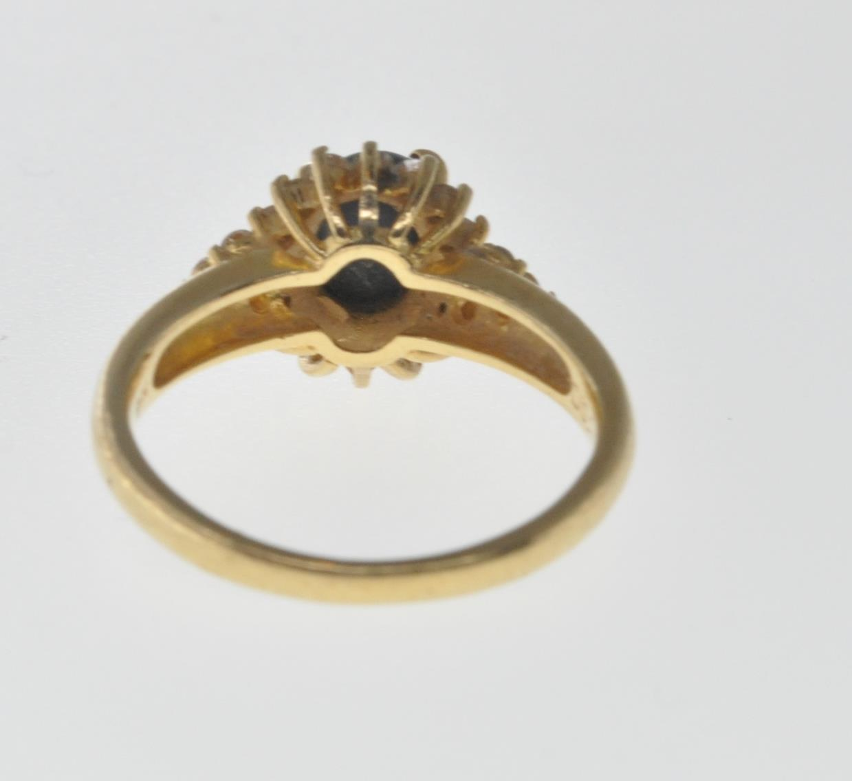 18CT GOLD BLACK OPAL AND DIAMOND RING - Image 5 of 7