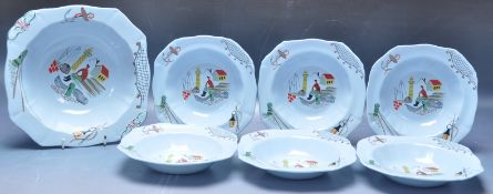 RETRO VINTAGE MID 20TH CENTURY ALFRED MEAKIN CHINA FRUIT SET
