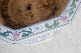 THREE CHINESE CERAMIC PLANTER POTS