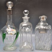 THREE 19TH CENTURY VICTORIAN AND LATER DECANTERS