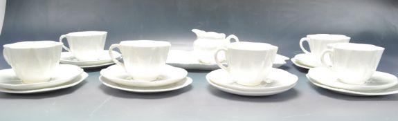 VINTAGE WHITE PORCELAIN TEA SERVICE BY SHELLEY