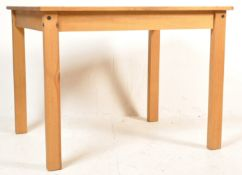 CONTEMPORARY PINE KITCHEN DINING TABLE AND CHAIRS SUITE