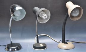 COLLECTION OF THREE RETRO VINTAGE INDUSTRIAL LAMPS