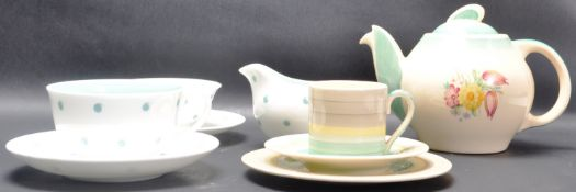COLLECTION OF 1930'S ART DECO SUSIE COOPER TABLE WARE