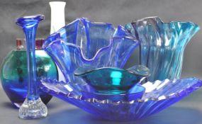COLLECTION OF VINTAGE 20TH CENTURY STUDIO ART GLASS VASES