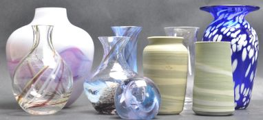 COLLECTION OF STUDIO ART VASES BY CAITHNESS