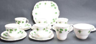 VINTAGE TEA SERVICE BY COLCLOUGH IN IVY LEAF PATTERN