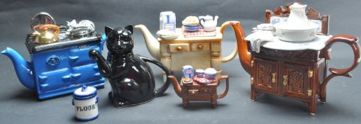 COLLECTION OF CARDEW NOVELTY TEAPOTS